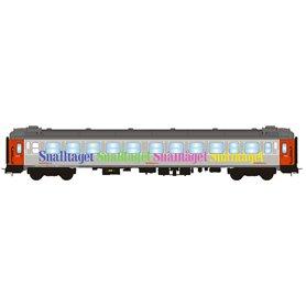 """NMJ 204703 Personvagn 2:a klass B1K 5099 """"Snälltåget"""""""