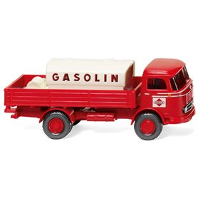 "Wiking 43804 Flatbed lorry / mountable tank (MB LP 321) ""Gasolin"""