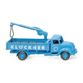 "Wiking 42603 Flatbed lorry w. loading crane (Magirus Sirius) ""Klöckner"""