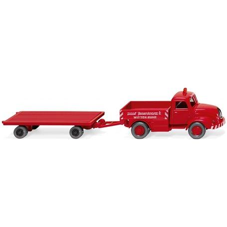 """Wiking 49202 Heavy duty truck with trailer """"Rosenkranz"""""""