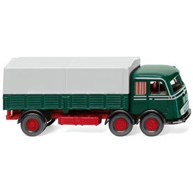 Wiking 42901 Flatbed lorry (MB LP 333) moss green