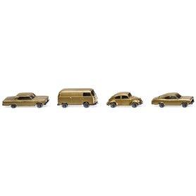 Wiking 91006 3 cars + 1 minibus 50 years N-Gauge