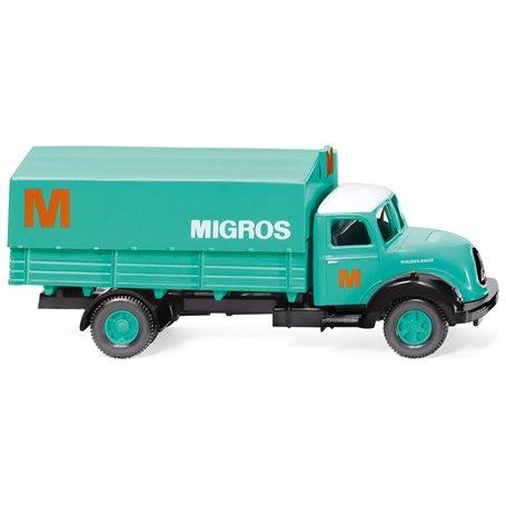 "Wiking 42602 Flatbed lorry (Magirus Sirius) ""Migros"""
