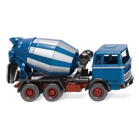 Wiking 68206 Betongmixer (MB) azure blue/ silver