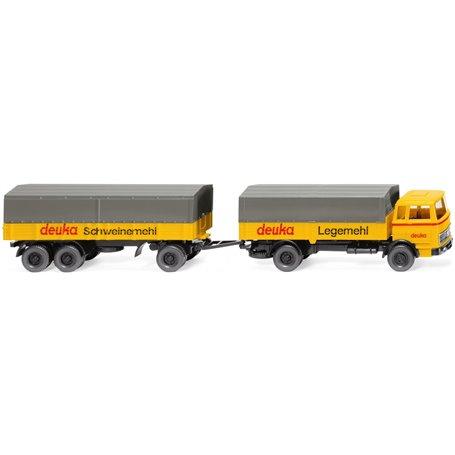 "Wiking 43201 Flatbed road train (MB 1620) ""Deuka"""