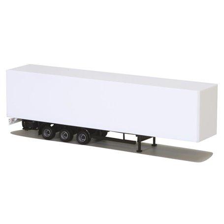 AMW 90638.1 Skåptrailer 3-axlig, vit omärkt