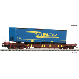 """Fleischmann 825051 Flakvagn AAE Sdgmns 33 med last av trailer """"LKW Walter"""""""