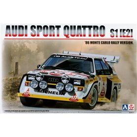 "Aoshima 24017 Audi Sport Quattro S1 (E2) 1986 Monte Carlo Rally Version ""H.Mikkola/A.Hertz"""