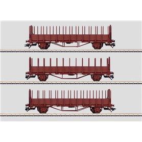Märklin 47730 Vagnsset med 3 stolpvagnar Oms typ SJ