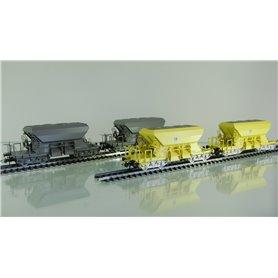 "Roco 76067 Vagnsset med 4 makadamvagnar ""Banverket"" DC-hjul"