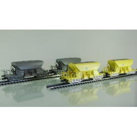 "Roco 76068 Vagnsset med 4 makadamvagnar ""Banverket"" AC-hjul"