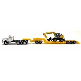 Promotex 6532 Peterbilt 367 W/Lowboy, Jeep And Excavator