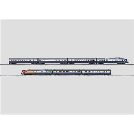 """Märklin 37608.1 Dieseldrivet motorvagnståg 7-delat BR 601 """"Blue Star Train"""" (BST)"""