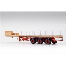 VK Modelle 02381 Ballasttrailer 3-axlig, beige/röd