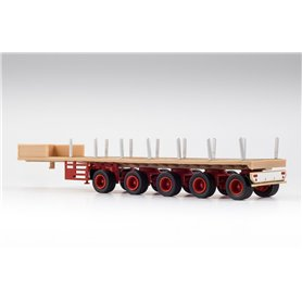 VK Modelle 02581 Ballasttrailer 5-axlig, beige/röd