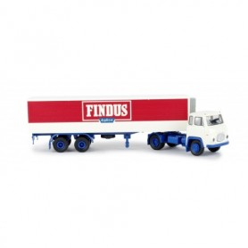Brekina 98510 Bil & Kyltrailer Scania LB 76 'Findus'