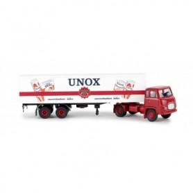 Brekina 85170 Bil & Trailer Scania LB 76 'Unox'