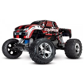 Traxxas 36054-1-RED Stampede 2WD 1/10 RTR TQ Röd