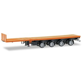 Herpa 076203-007 Nooteboom teletrailer with 4-axle, orange