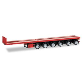 Herpa 076715-003 Nooteboom ballast trailer with 6 axle, red