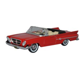 Oxford Models 129382 Chrysler 300 Convertible Open 1961 Mardi Gras Red