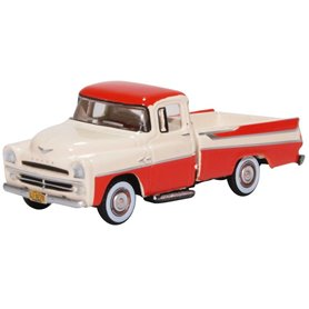 Oxford Models 129474 Dodge D100 Sweptside Pick Up 1957 Tropical Coral/glacie