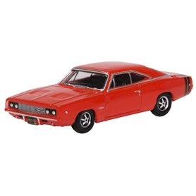 Oxford Models 129436 Dodge Charger 1968 Bright Red