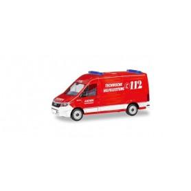 Herpa 094900 MAN TGE box truck 'Feuerwehr Aachen | Technische Hilfeleistung?