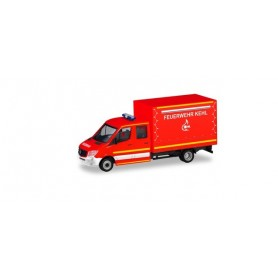 Herpa 094931 Mercedes-Benz Sprinter double cabin with canvas 'Fire Department Kehl'