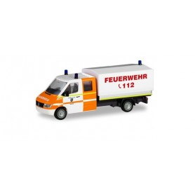 "Herpa 094979 Mercedes-Benz Sprinter double cabin with canvas ""fire department Rhede"""