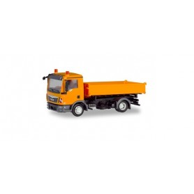 Herpa 310994 MAN TGL three way tipper, orange