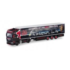 Herpa 311007 MAN TGX XXL Euro 6c refrigerated box semitrailer 'Trio | Trans MAN'