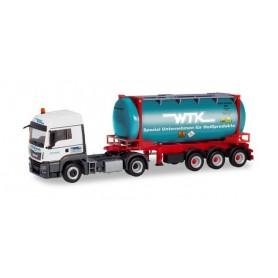 Herpa 311021 MAN TGS LX Euro 6c swapcontainer trailer ?Wittener Transport Kontor | Stratmann? (Nordrhein-Westfalen | Witten)