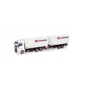 """Herpa 311052 MAN TGX XXL swap-body trailer truck """"DB Schenker"""""""