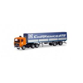 Herpa 311113 Volvo F12 6x4 canvas semitrailer 'Sovtransavto'
