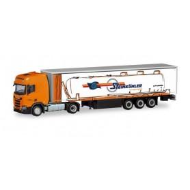 Herpa 311144 Scania CR 20 HD curtain canvas semitrailer ?Steinkühler? (Nordrhein-Westfalen | Rheine)
