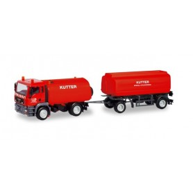 "Herpa 311175 MAN TGA M sweeper with tank trailer ""Kutter"" (Bayern | Memmingen)"
