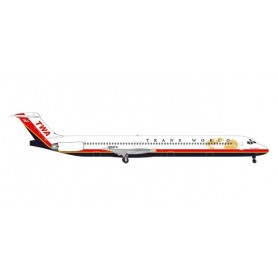 Herpa 533737 Flygplan TWA - Trans World Airlines McDonnell Douglas MD-83 'Spirit of Long Beach'
