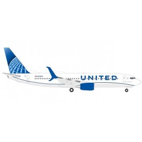 Herpa 533744 Flygplan United Airlines Boeing 737-800 -new 2019 colors-