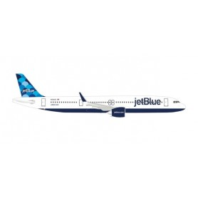 Herpa 533805 Flygplan JetBlue Airways Airbus A321neo 'Balloons' tail design