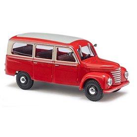 Busch 51250 Framo V901/2, Bus, Röd