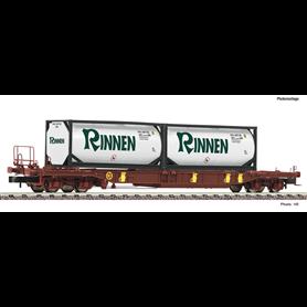 """Fleischmann 825054 Flakvagn Sdgmns 33 T3 AAE med last av trailer """"Rinnen"""""""