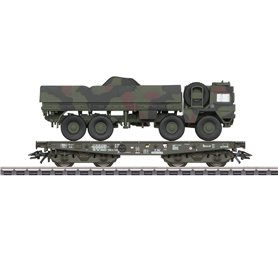 Märklin 48797 Tungtransportvagn Rlmmps typ DB AG med last av MAN 10t