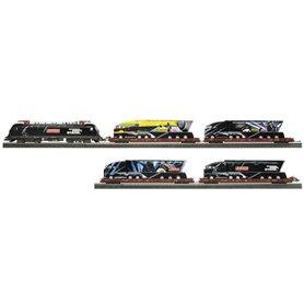 """Herpa 151061 Biltransporttågset """"Fulda Showtruck"""" i samarbete Herpa/Märklin (DC version), Specialmodell"""