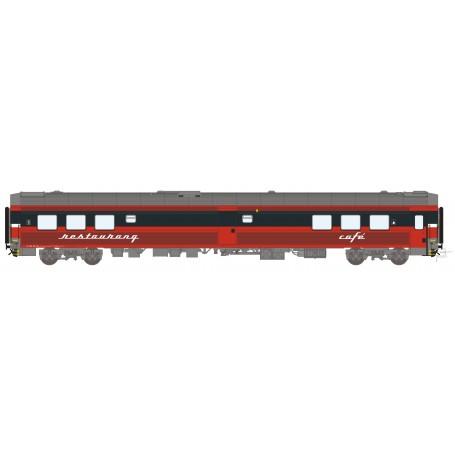 HNoll HN.1466DC Restaurangvagn SJ R4R 5451 Röd Gen. 1 Kaviar text