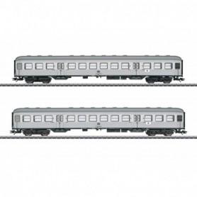 Märklin 43147 Vagnsset med 2 personvagnar typ DB 'Silver Coins'