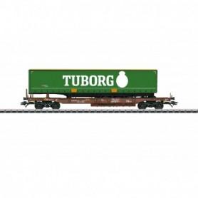 Märklin 47113 Flakvagn AAE med last av trailer 'Tuborg'