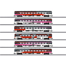 Trix 15389 Vagnsset med 6 personvagnar typ NS 'ICRm'