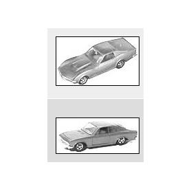 """Märklin 1818 MHI Sportwagenset """"General Motors"""", engångsserie från 1993"""