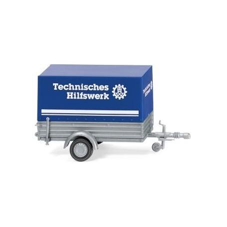 Wiking 05604 THW - passenger veh. trailer